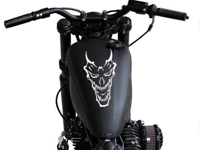 "FGD Demon Skull Motorcycle Gas Tank Decal 11"" H x 5.75 W"""