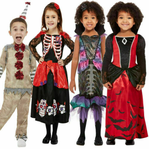 Toddler & Baby Halloween Fancy Dress Costume Vampire Clown Ghost Outfit