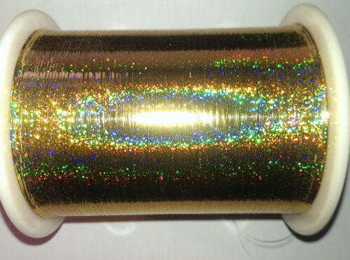 Bobina de 1 300 G M gp 62,00 euros//kg holográfica oro unverstärkt 100/% poliéster