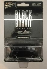 JOHNNY LIGHTNING BLACK BANDIT VW SAMBA BUS 2000 Made Diecast 1/64 Scale