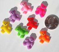 Teddy Bears Resin Flatbacks Embellishments Scrapbooking Bows Crafts Glue On