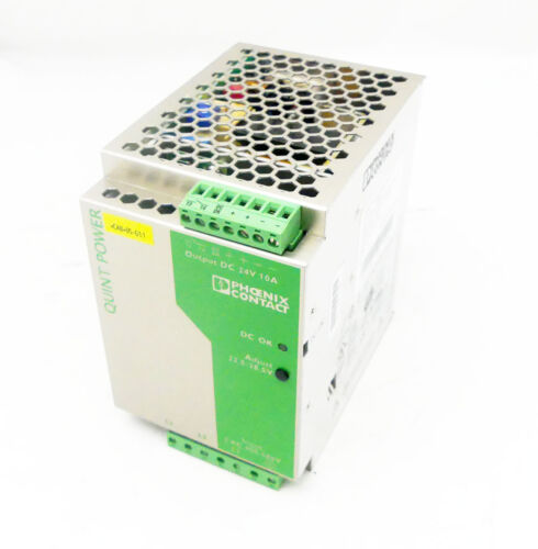 used PHOENIX CONTACT QUINT-PS-3x400-500AC//24DC//10 Power Supply 2938617