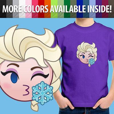 Frozen Anna Elsa Boys Girls Kids Short Sleeve T-shirt Tee Summer Casual Costumes
