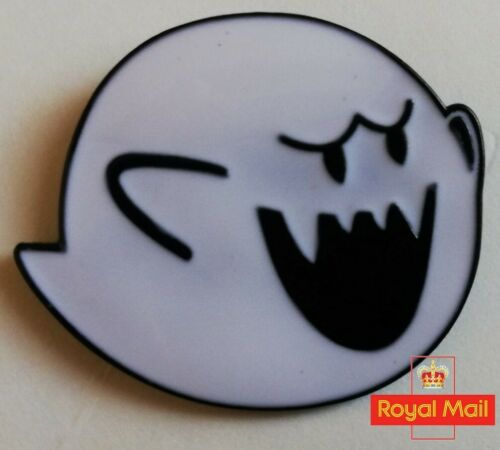 Super Mario Bros Boo Ghost Enamel Pin Badge