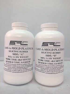 RTV Silicone Rubber For Mold Making: 1 to 1 Mix Ratio, Food Grade 2 Quarts