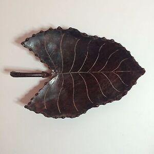 Brown-Metal-Leaf-Shaped-Plate