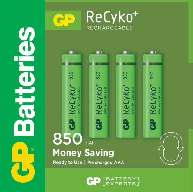 GP ReCyko+ Akku NiMH Micro AAA HR03 1,2V 850mAh 4er-Blister