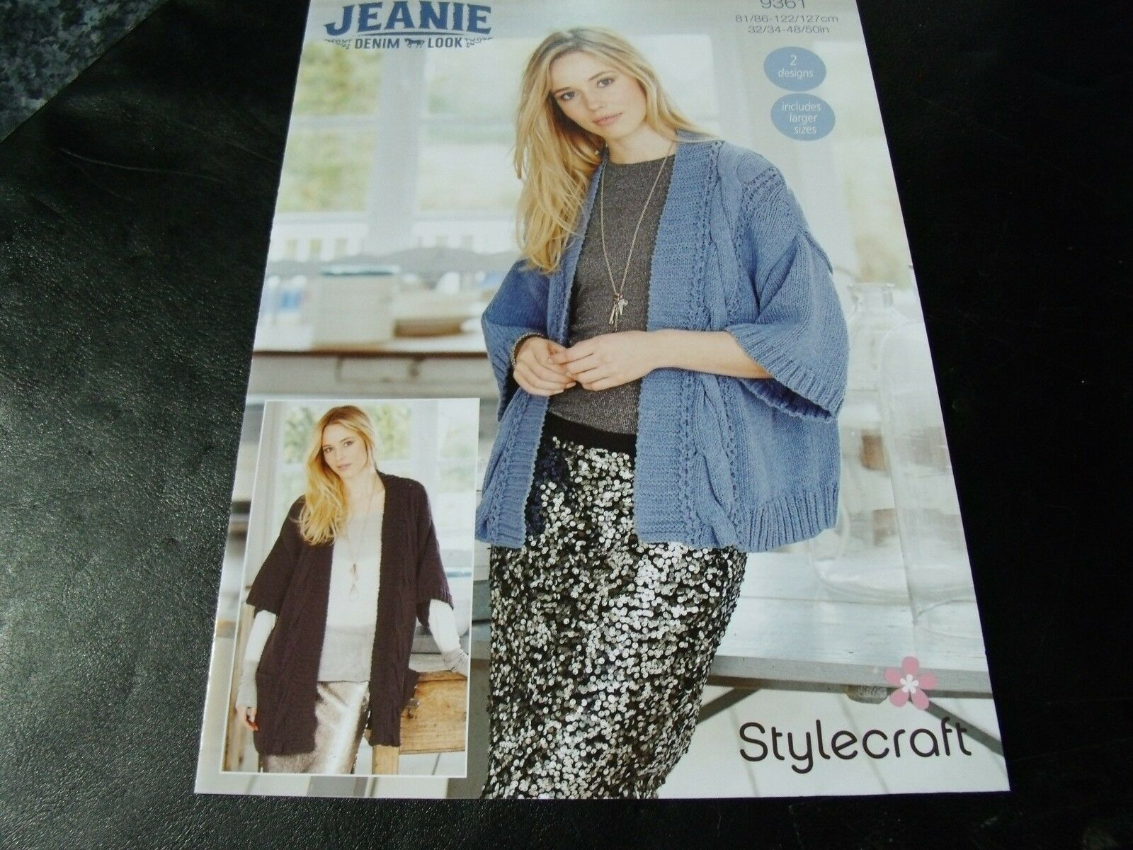 3debe5125eabe5 Stylecraft Jeanie Denim LOOK Jumper and Cardigan Pattern 9361 2 ...