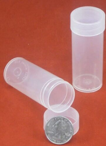5 Round Quarter 24.3mm 1//4oz DuraClear Unbreakable Coin Rounds Tubes Storage