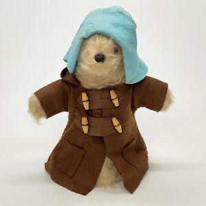 Vintage-Paddington-Bear-11-034-Hand-Puppet-Gabrielle-Designs-England-Brown-Coat