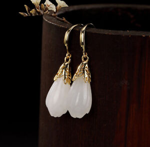 H02-Earring-Silver-925-Gold-Plated-with-Bloom-from-White-Jade-Style-A