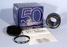 Carl Zeiss Planar T* 50mm f/1.7 Prime Lens * Contax C/Y * Boxed & Excellent