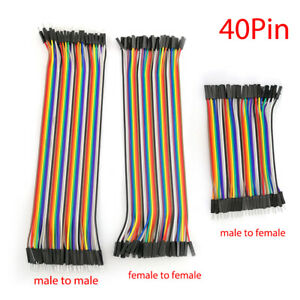 120pcs 20cm Wire Male To Male Female Jumper Cable For Arduino Breadboard L2KD