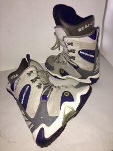 Womens-DC-Eris-Snowboard-Boots-sz-6-Black-Snow-Board-eu-37-Purple-Gray