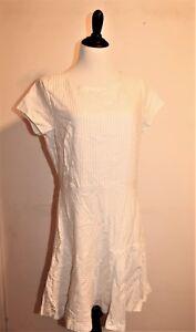 902c59e258 Banana Republic Women s Off White Linen Pinstripe Flutter Sleeve ...