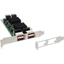 InLine PCI-Express Karte - 8x SATA 6Gb/s, mit 8x SATA + 4x eSATA, PCIe 2.0