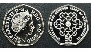 2010-Girl-Guides-50p-Fifty-Pence-Coin-Royal-Mint-BUNC
