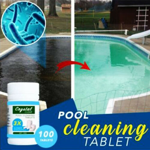 100pcs//bottle Water Effervescent Cleaner Tablets Swimming Pool Cleaning Tools