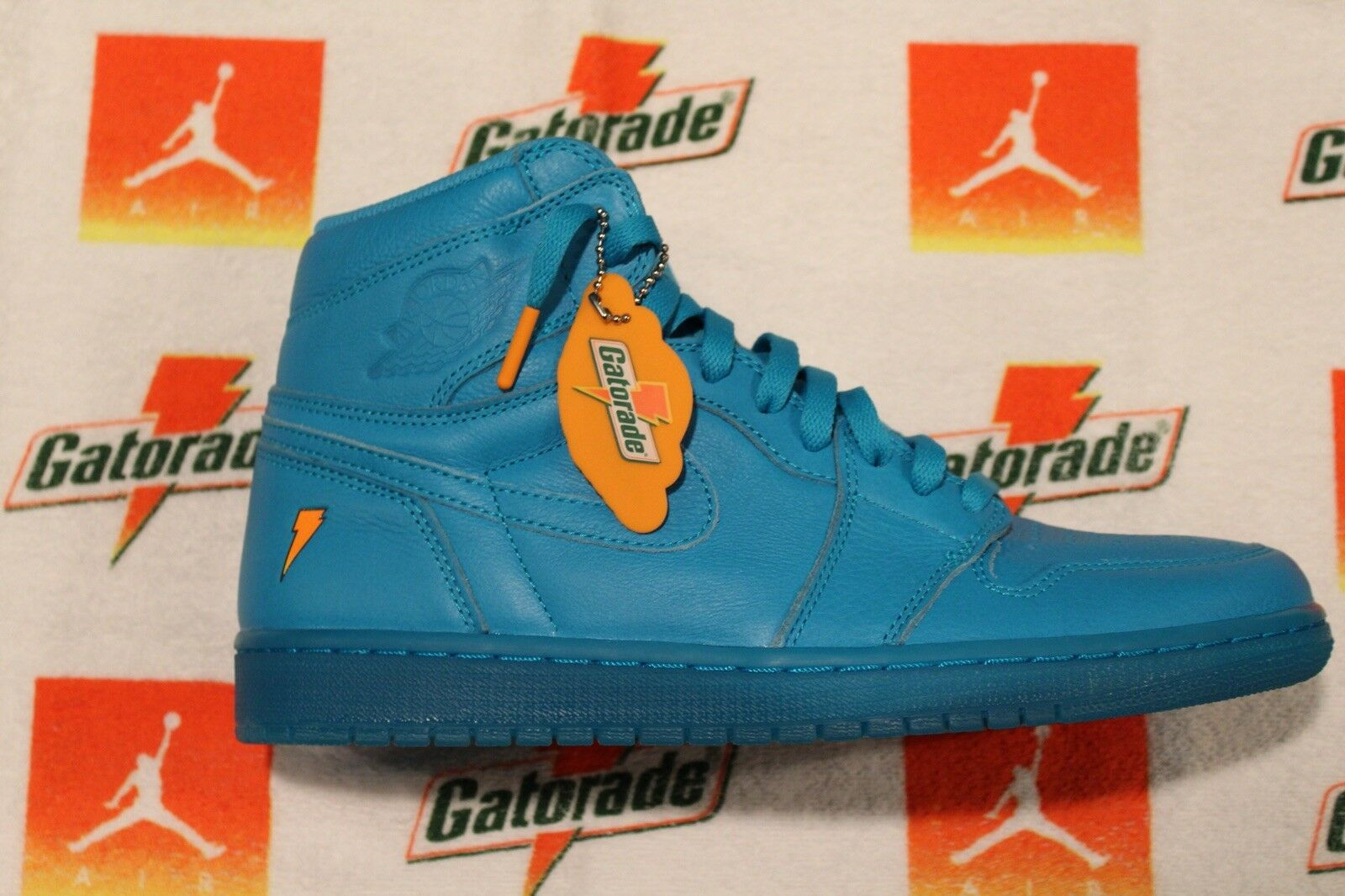 Nike air jordan 1 retro - hohe og gatorade cool Blau