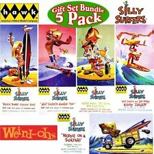Set of 5 Hawk Silly Surfer Model Kits Hot Dogger Surf Bunny Hodad  Woodie Bunny