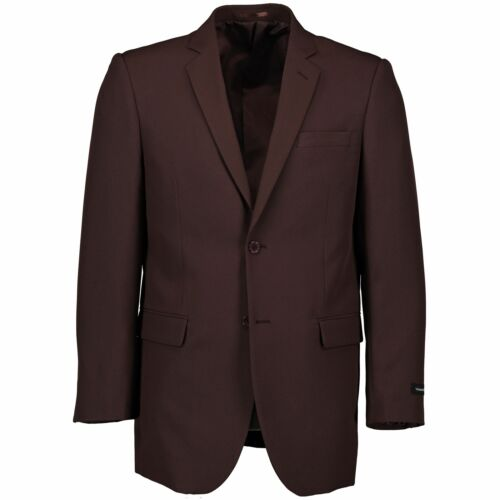 Victorio Couture Men/'s Brown 2 Button Classic Fit Poplin Polyester Suit NEW