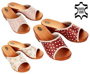 Damen Leder Clogs Schuhgröße 37 Und 38.neu Kleidung & Accessoires