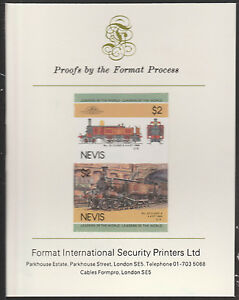 Nevis (2005) Locomotives - Class A 4-4-0T imperf on Format Int PROOF CARD