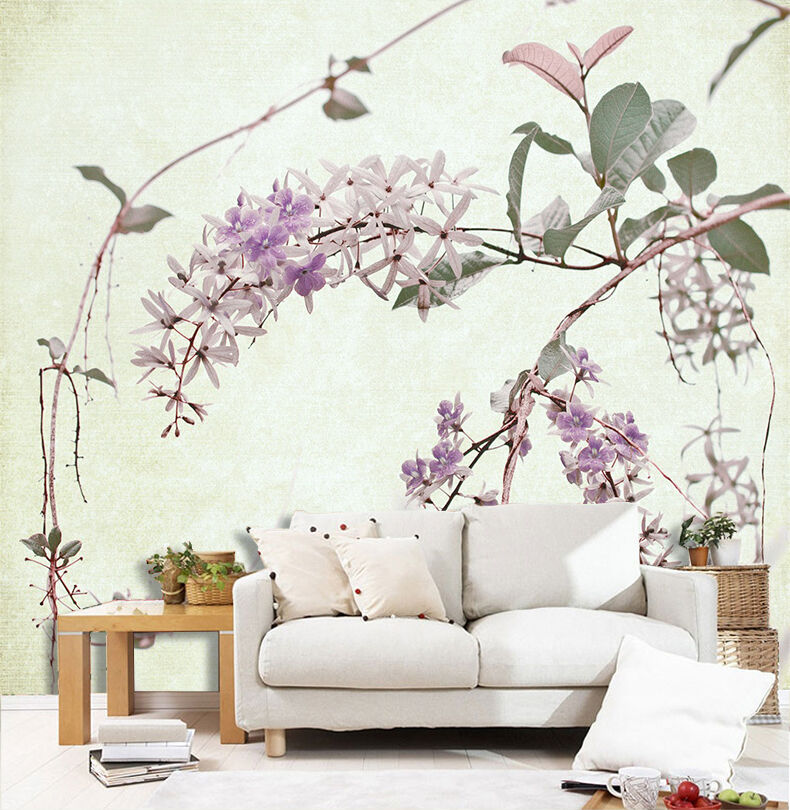 3D lila little flowers 322 Wall Paper Print Wall Decal Deco Indoor Wall Murals