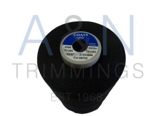 Coats Epic TKT80 5000mts por Cono polyseter envuelto con núcleo de filamento de poliéster
