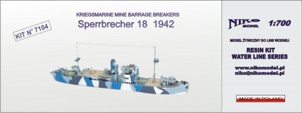 1 700 700 700 Niko Kriegsmarine Mine Barrage Breakers Sperrbrecher 18 1942 0a5