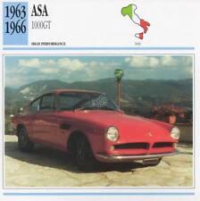 1963-1966 ASA 1000GT Classic Car Photo/Info Maxi Card