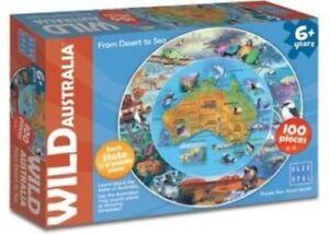 Blue Opal Wild Australia From Desert to Sea Round Map Jigsaw ...
