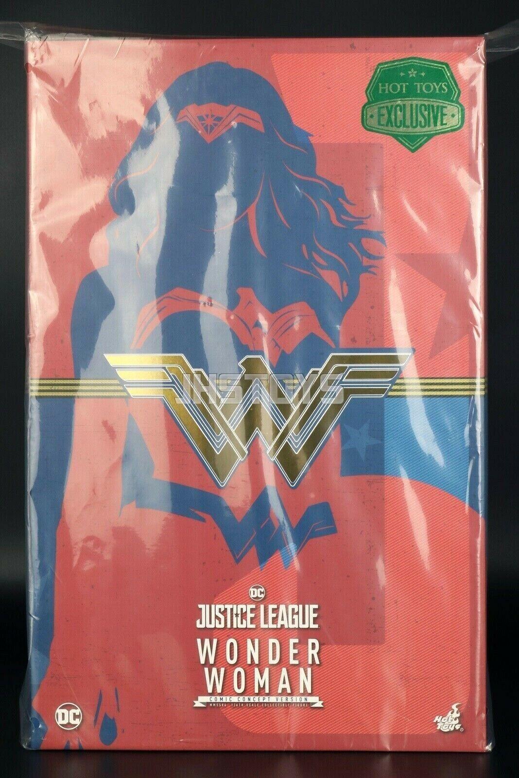 Hot Juguetes 1 6 Liga De La Justicia Mujer Maravilla de arte conceptual versión MMS506