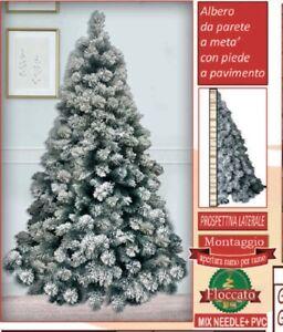 Albero Di Natale Ebay.Albero Di Natale Innevato Glaciale A Meta Parete Con Piede Altezza 180h Ebay