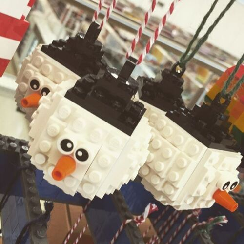 Lego Snowman Bauble Christmas Tree Ornament Build it yourself