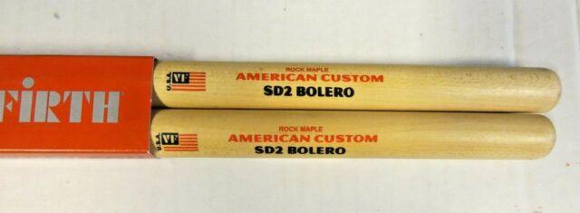 Vic Firth American Custom Bolero rock maple Drumsticks, SD2   NEW
