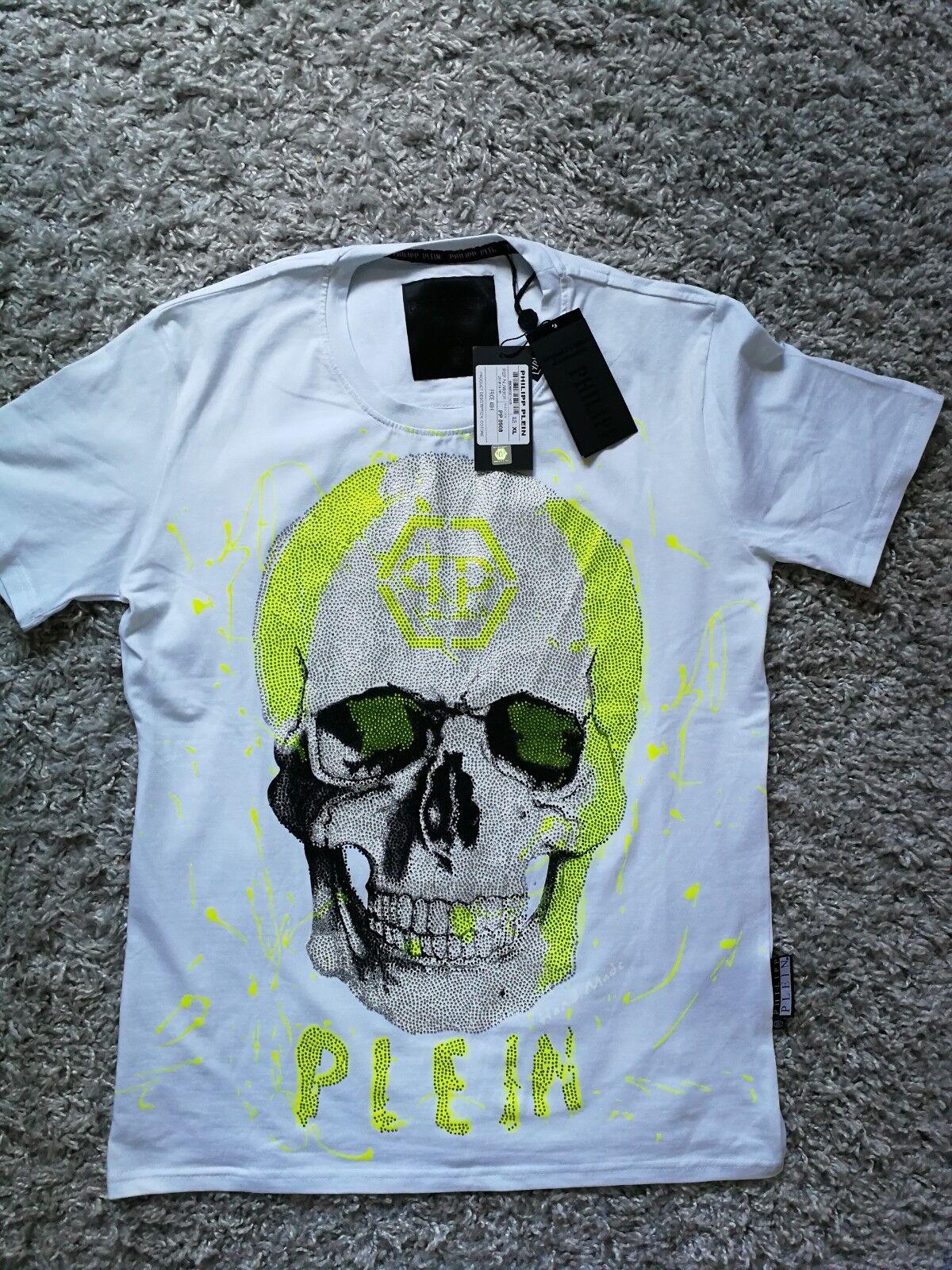 PHILIPP PLEIN  HERREN T-SHIRT Luxus Baumwolle L/XL NEU mit etikett