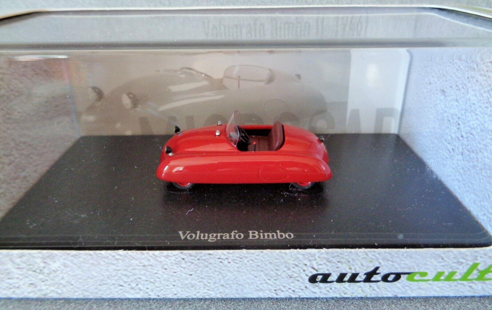Autocult 1 43 escala 1946 Volugrafo Bimbo.. rosso.. MINT N en caja