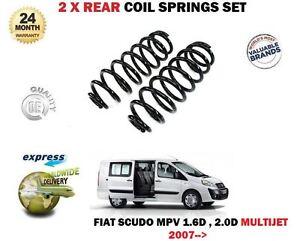 FOR FIAT SCUDO MPV 1.6D 2.0D MULTIJET 270 272 2007->NEW 2 x REAR COIL SPRING SET