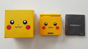 Nintendo GameBoy Advance SP Pikachu Yellow Edition Boxed Japan Import Used