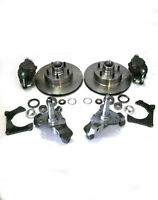 Mustang Ii Big Disc Brake Kit + 2 Drop Spindles & 11 Rotors Street Rod Dropped