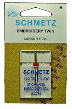 Schmetz Sewing Machine Twin Embroidery Needle 1736