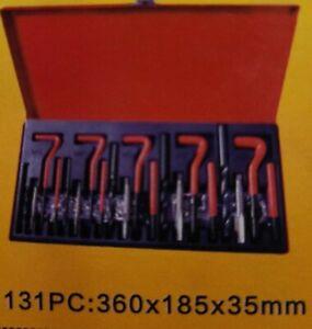 VIVOHOME Professional Helicoil Thread Repair Kit Metric 131pcs M5 M6 M8 M10 M12