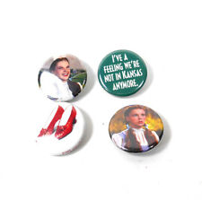 "ONE Inch Buttons 1/"" Pinback Pins Dorothy Ruby Red Slippers 4 WIZARD OF OZ"