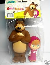 Set of 2 toys Masha 8 cm and bear 14 cm / i Medved/ Russian cartoon plastizol