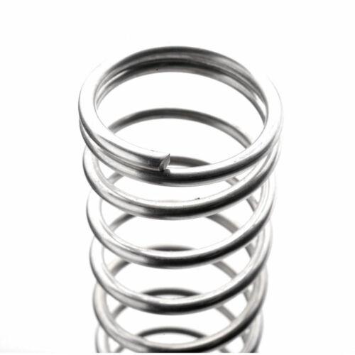 5pcs Druckfeder 0,6-1 mm Draht Verzinkt Stahl Druck Kleine Federn Alle Größe DIY