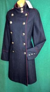 New-MONSOON-Navy-Blue-MYA-UK-20-22-WoolMix-Military-Blazer-Reefer-Jacket-Coat