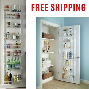 Over-the-Door-Pantry-Rack-Storage-Wall-Mount-Kitchen-Basket-Shelves-Organizer