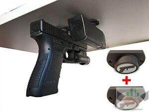 Gun Magnet Car Bedside Under Desk Holster Vault Pistol Lock Portable