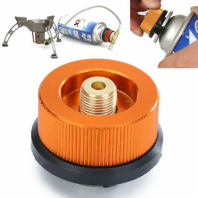 UK Camping Stove Butane Gas Metal Adapter Convert Fuel Canister Safety New